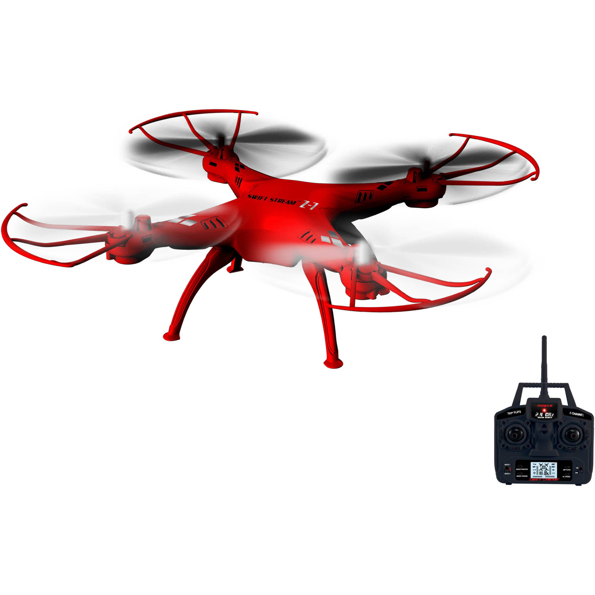 "Swift Stream Z-7 Remote Control 7"" Drone, Red"