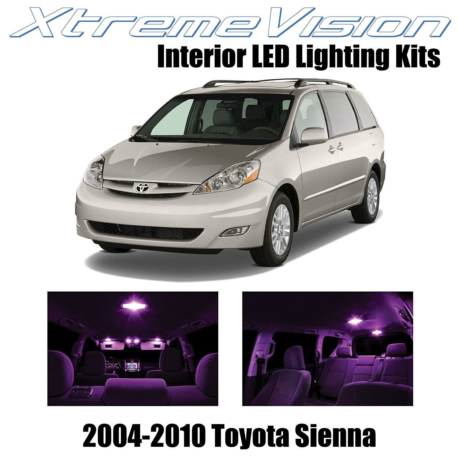 Car Led Interior Lights For 2019 Toyota Sequoia Sienna: XtremeVision LED For Toyota Sienna 2004-2010 (14 Pieces