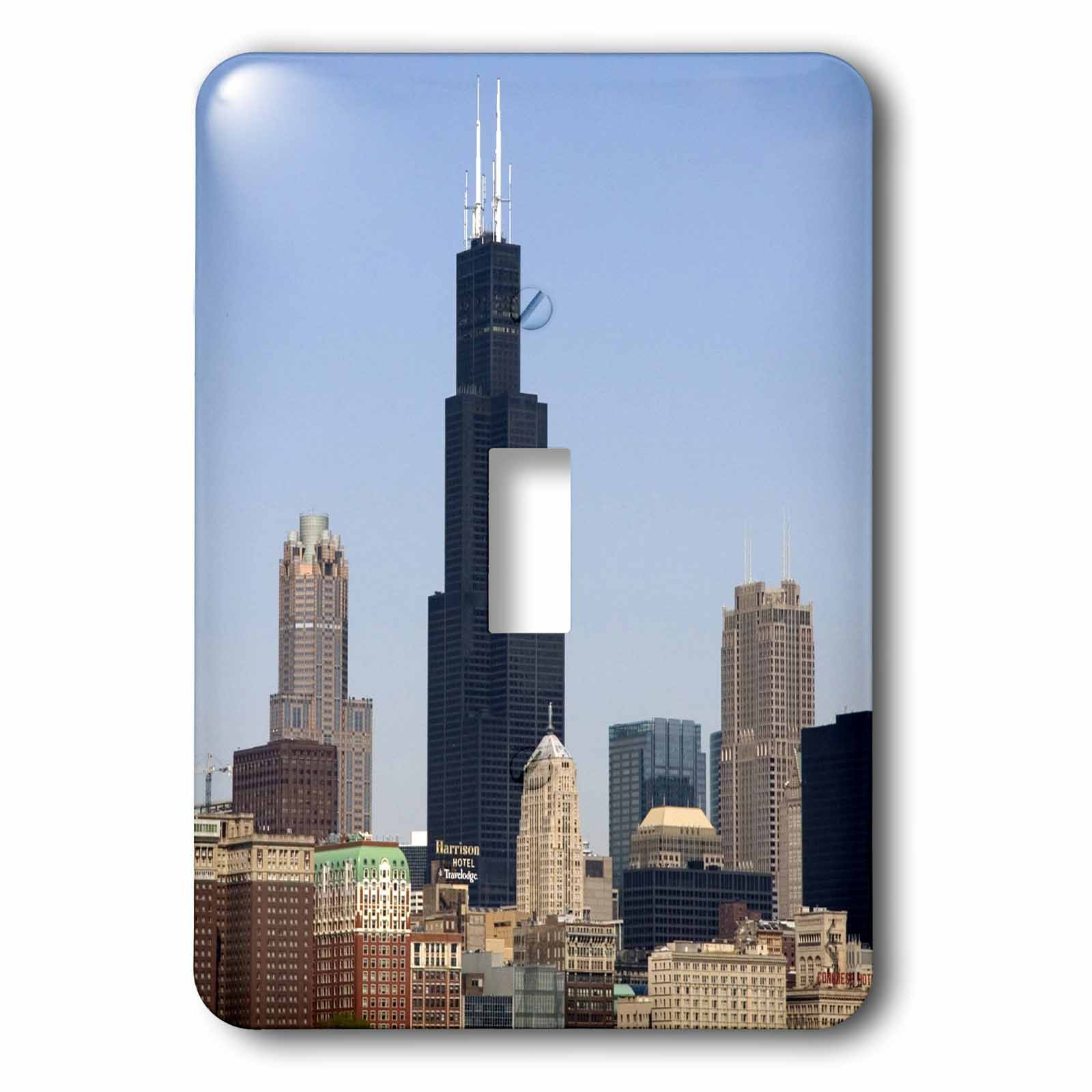 3dRose Willis and Sears Tower, Chicago River, IL - US14 DFR0095 - David R. Frazier, 2 Plug Outlet Cover