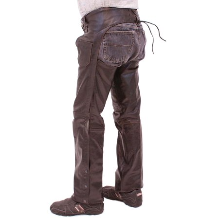 Dark Brown Leather Chaps #C957RN 2.0 Leather Chaps
