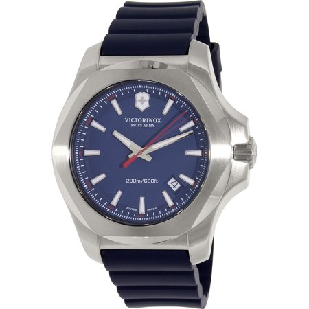Victorinox Swiss Army Men's Inox 241688.1 Blue Rubber Swiss Quartz Watch