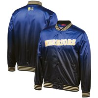 Golden State Warriors Mitchell & Ness Chinese New Year Satin Full-Snap Jacket - Black