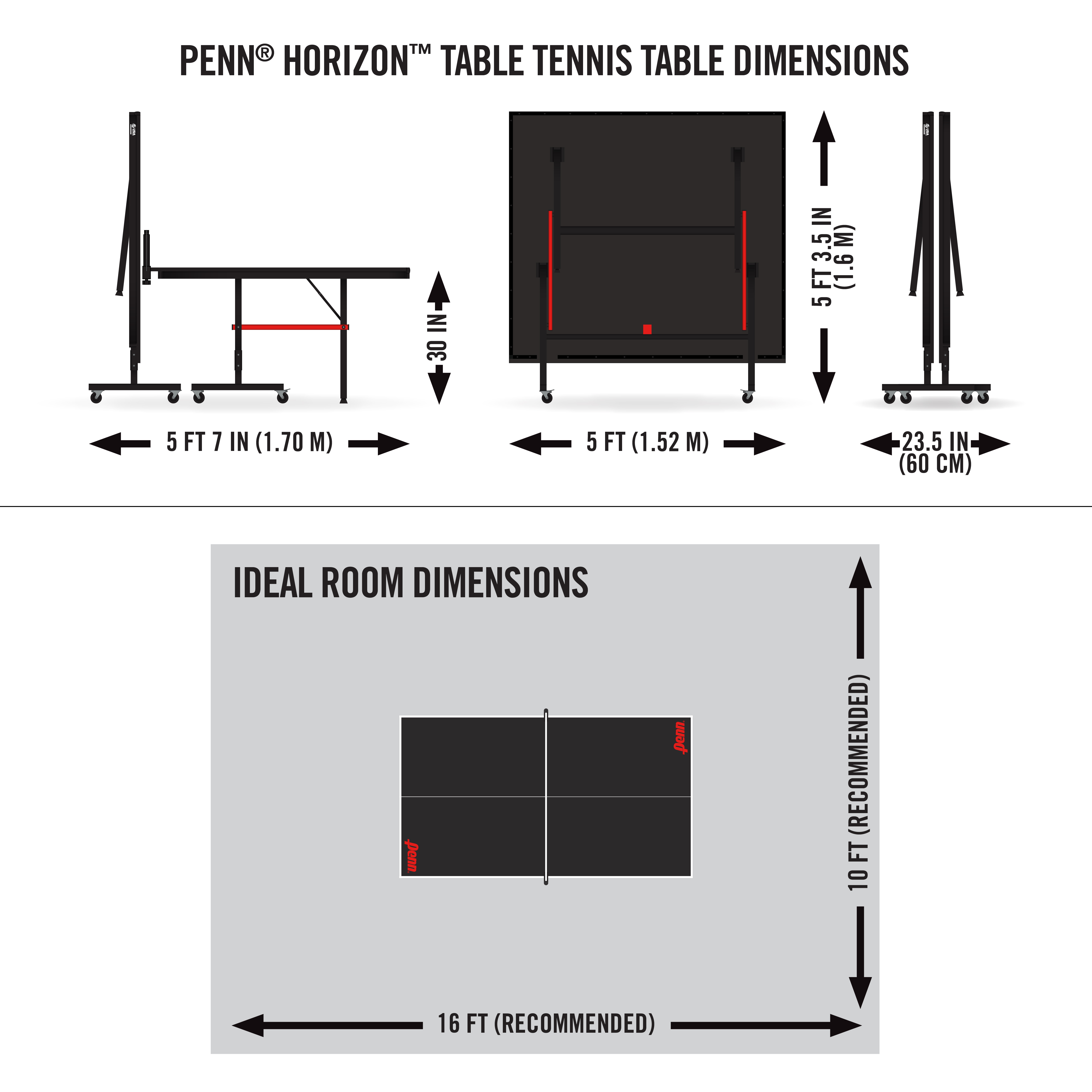 Groovy Penn Horizon Tournament Size Table Tennis Table Download Free Architecture Designs Embacsunscenecom