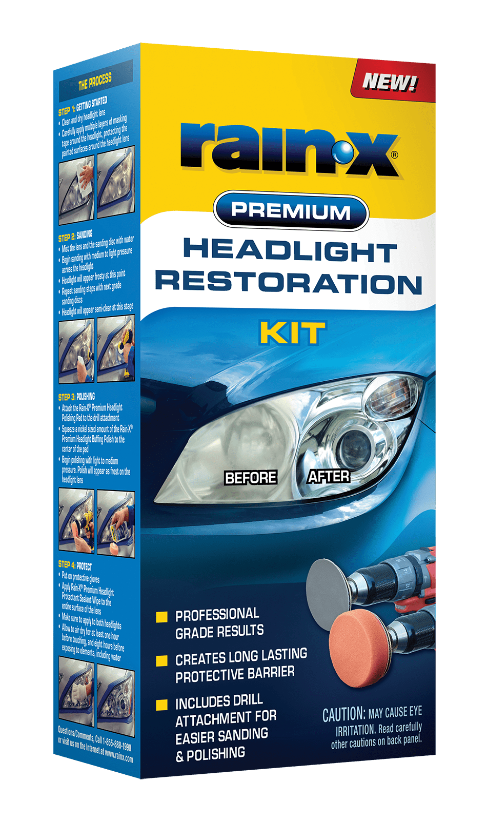 Rain-X Premium Headlight Restoration Kit - 610153 - Walmart.com -  Walmart.com