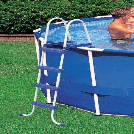 Intex above ground swimming pool ladder w barrier 48 for Above ground pool decks walmart