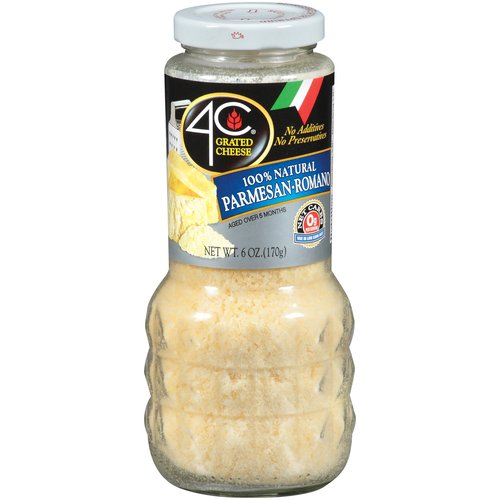4C 100% Natural Parmesan/Romano Cheese, 6 oz