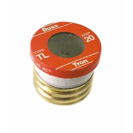 TL-20PK4 20 Amp Time Delay, Loaded Link Edison Base Plug Fuse, 125V UL Listed, 4-Pack, Quantity: 4 Pack By Bussmann