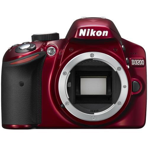 Nikon D3200 Digital SLR Camera Body (Red) - Factory Refurbished includes Full 1 Year Warranty