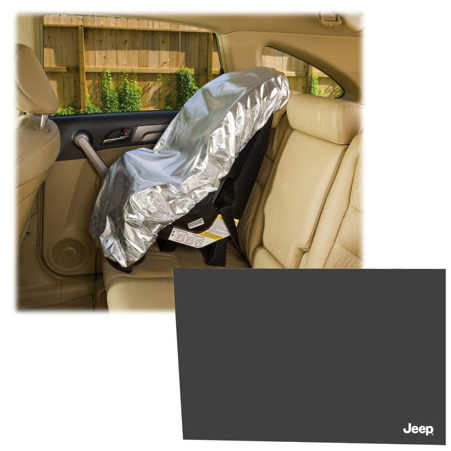 Mommy's Helper Car Seat Sun Shade with Cling Sunshade by Mommy%27s Helper