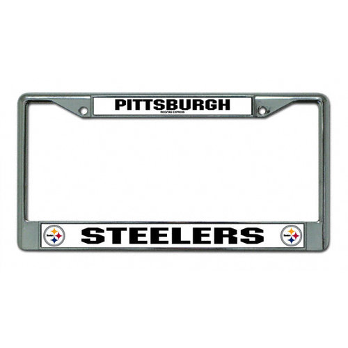 NFL - Pittsburgh Steelers Chrome License Plate Frame