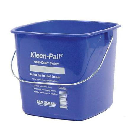 San Jamar - KP196KCBL - 6 qt Kleen-Pail® Blue Bucket