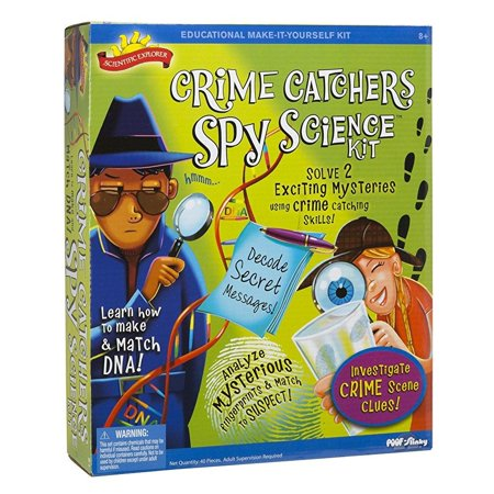 - Scientific Explorer Crime Catchers Spy Science Kit