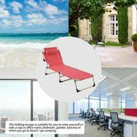 EOTVIA Beach Lounge, Folding Reclining Chair,Portable Folding Outdoor Camping Lounge Beach Garden Patio Recliner Reclining Chair