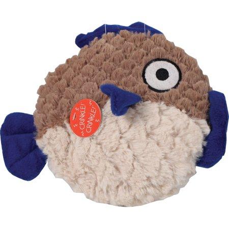 Ethical Dog-Soft Swirl Plush Fish Dog Toy- Tan/beige 9.5 Inch