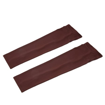 Pair Brown Polyester Outdoor Bike Bicycle Sunscreen Sleeve Arm Protector Cover - image 2 of 2