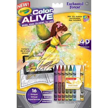 Crayola Color Alive Action Coloring Pages Enchanted Forest