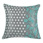 Organzza Exotic Profusion Embroidered Floral Throw Pillow