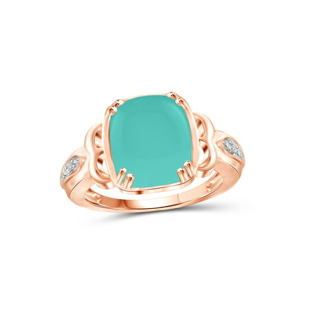 5 Carat T.G.W. Chalcedony and White Diamond Accent Rose Gold over Silver Fashion Ring