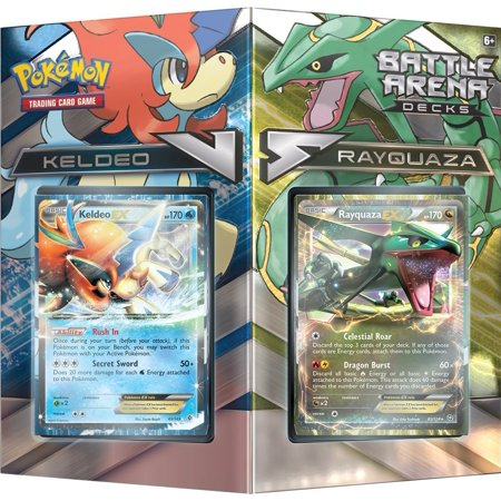 Pokemon TCG: Battle Arena Decks, Rayquaza Vs Keldeo Card Game, theme deck containing a foil card of Rayquaza-EX or keldeo-ex Ship from US