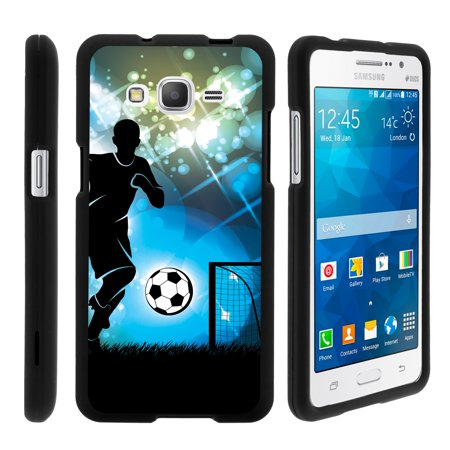 Grand Slam Player (TurtleArmor ® | For Samsung Galaxy Grand Prime G530 | Samsung Go Prime [Slim Duo] Two Piece Hard Cover Slim Snap On Case - Soccer Player Graphic )