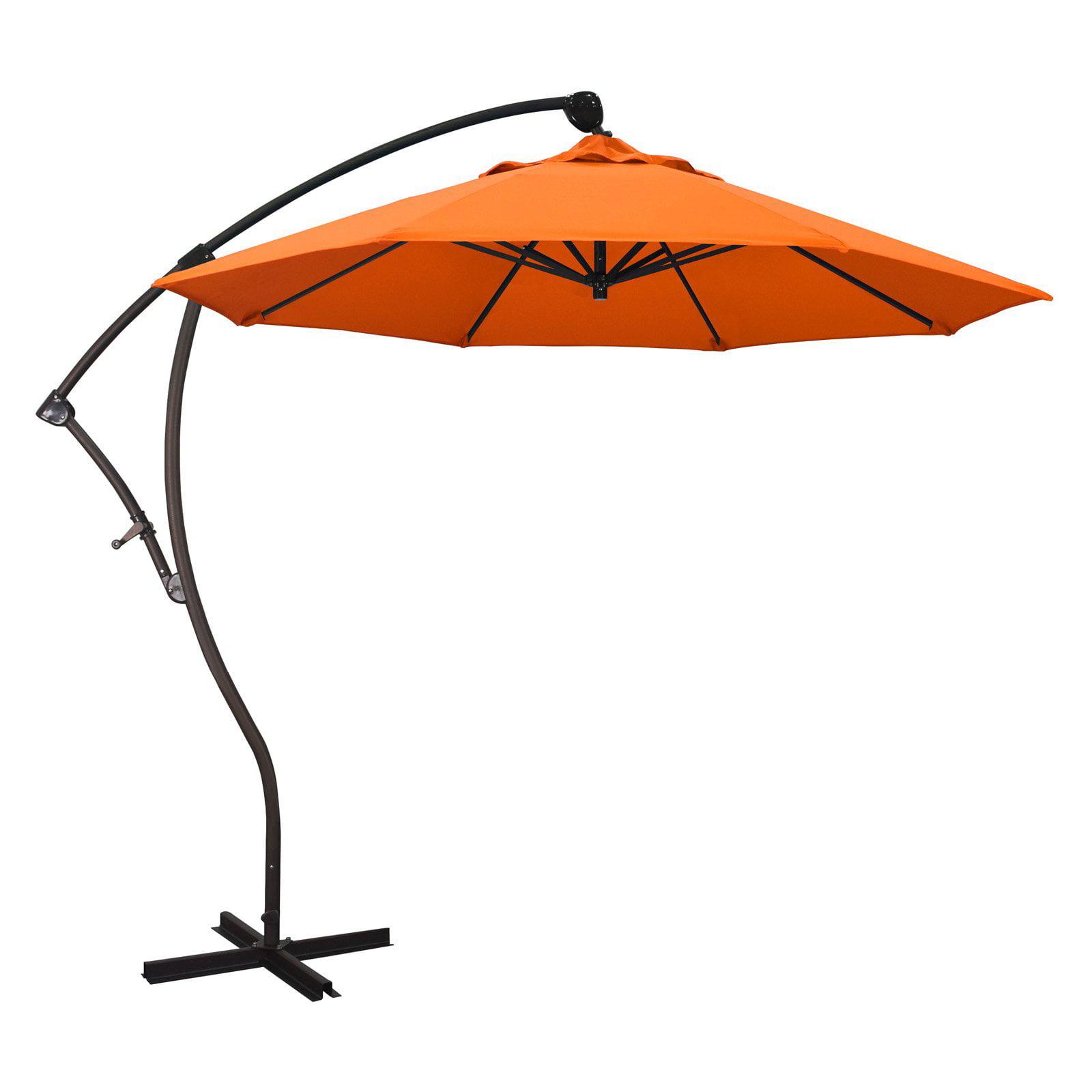 California Umbrella 9 ft. Sunbrella Rotating Offset Umbrella