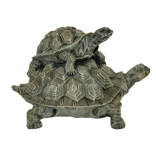 Ladybug Garden Decor Double Turtle Key Safe Statue