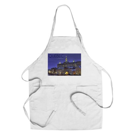 Quebec  Canada   Rue Des Remparts   Lantern Press Photography  Cotton Polyester Chefs Apron