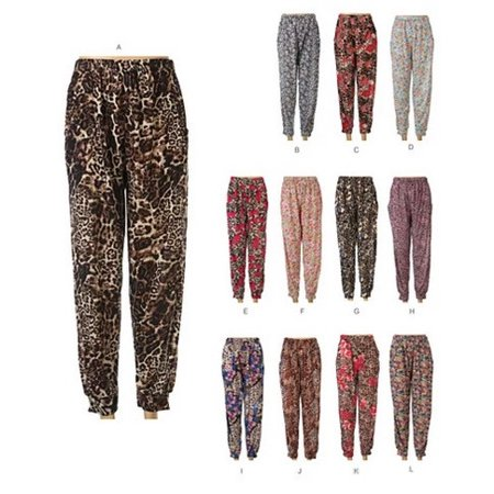 Flowers In The Wild Lounge Leggings In Flowers And Animal Prints