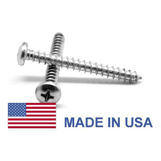 ASMC Industrial No.6-20 x 0.25 MS51861-C Phillips Pan Head Type AB Sheet Metal Screw, USA Stainless Steel 410 - 2500 Piece