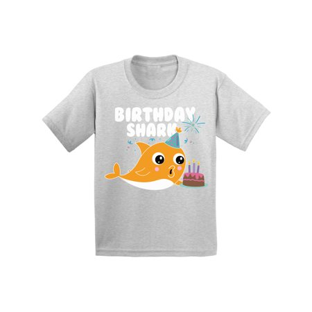 Awkward Styles Shark Birthday Party Shark Toddler Shirt Shark Shirts for Boys Shark Outfit Shark Themed Party Cute Shark T Shirts for Girls Gifts for Children B Day T-Shirt Presents for Kids