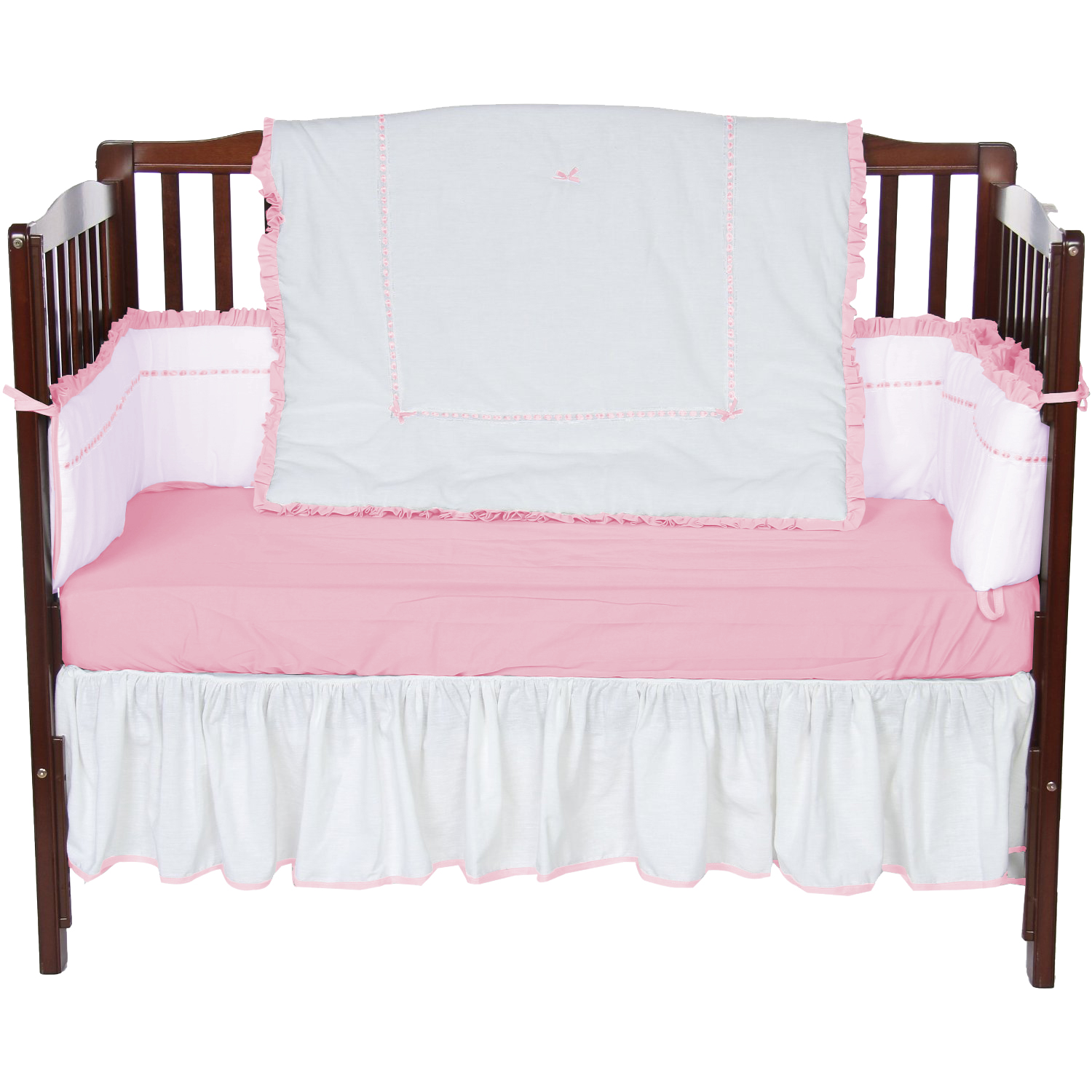 Baby Doll Bedding Unique 4 Piece Crib Bedding Set in Pink by Baby Doll Bedding