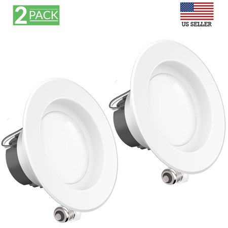 4 Inch Downlight - SUNCO 2PK 4 Inch Retrofit Recessed LED Smooth Downlight 11W 600LM 3000K (Wet)