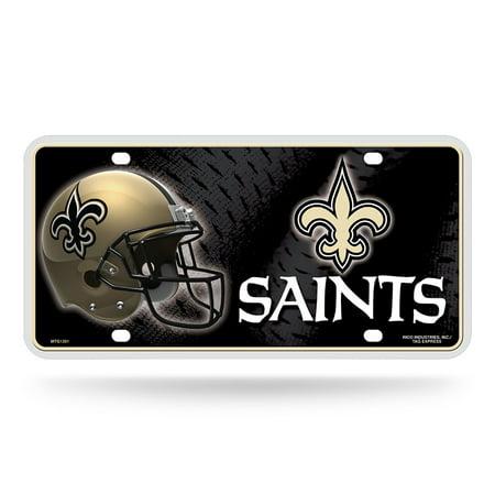 New Orleans Saints NFL Metal Tag License Plate - Walmart.com