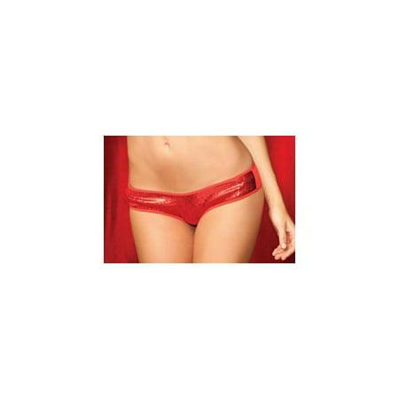 Rene Rofe Red Sneak Peek Sequin Panty 1089RD Red