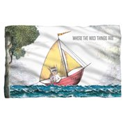 Where The Wild Things Are Max'S Boat Poly 36X60 Blanket White One Size
