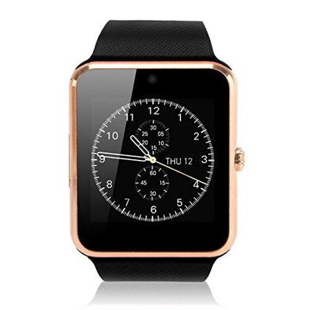 Amazingforless (CX-190) Premium Gold Bluetooth Smart Wrist Watch Phone mate for Android Samsung HTC LG Touch Screen with (Best Lg Android Camera Phones)