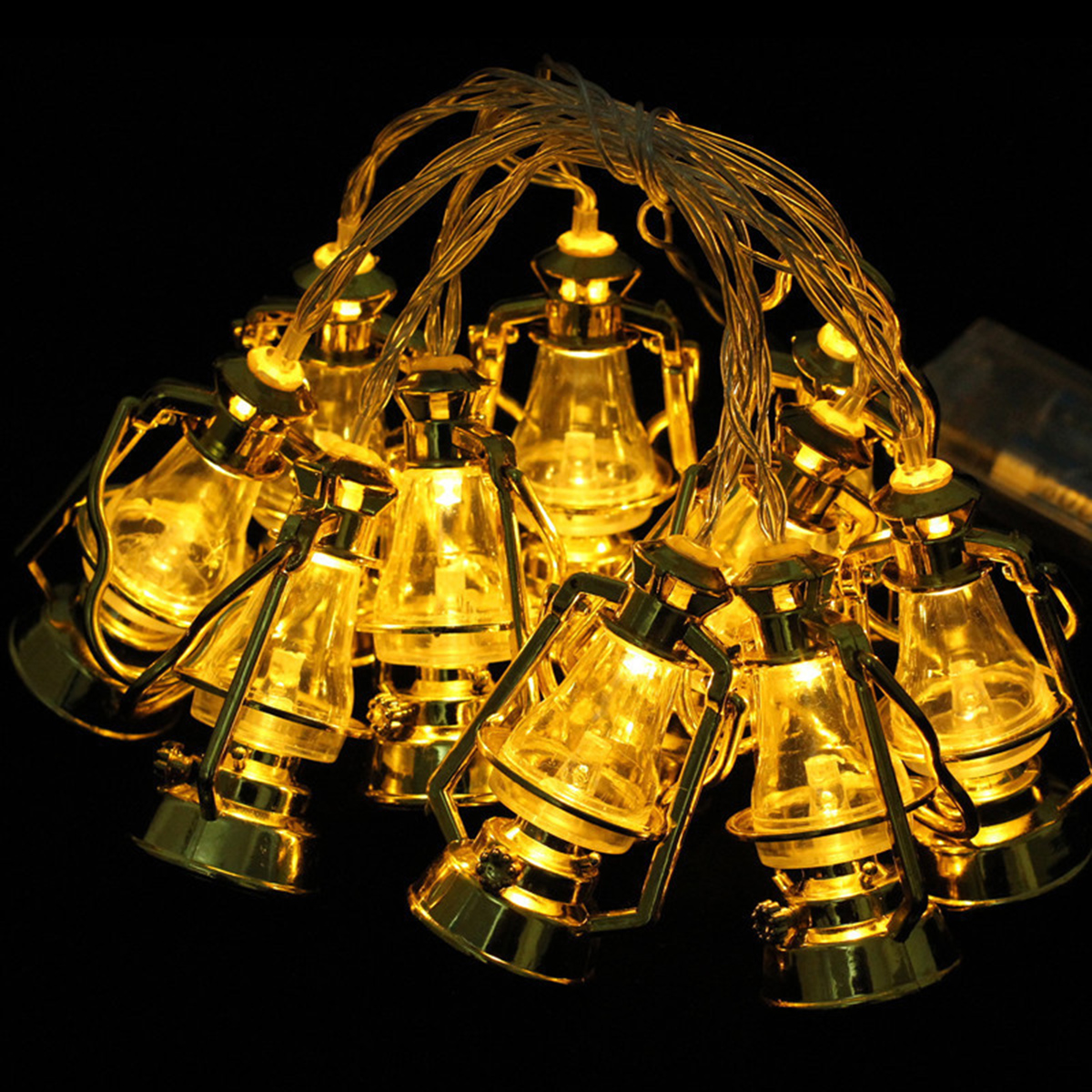 Ramadan Eid Muslim Lantern Moon Star LED String Fairy Light Islamic Party Decor