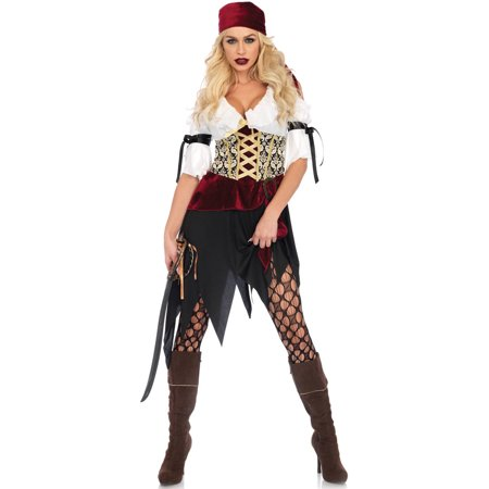 Leg Avenue Women's Sexy Wench Pirate Costume - Wench Halloween Costumes