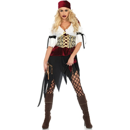 Leg Avenue Women's Sexy Wench Pirate Costume (Pirate Wench)
