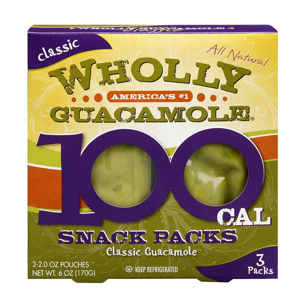 Wholly Guacamole Classic Guacamole 100 Cal Snack Packs, 6.0 OZ