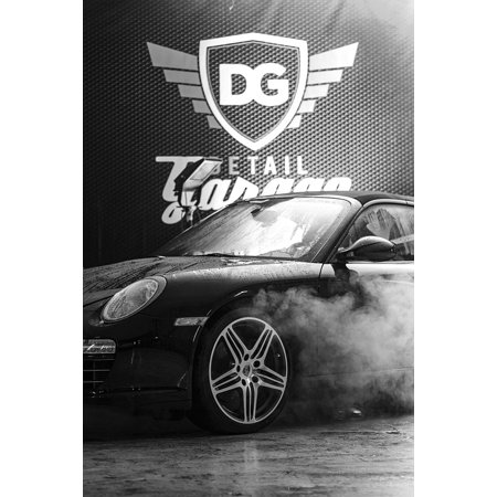Peel N Stick Poster Of Smoke Luxury Car Car Wash Steam Water Garage