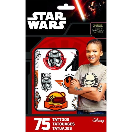 Star Wars The Force Awakens Pack of 25 Temporary