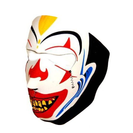 Joker Clown Neoprene Full Face Mask - - Black Full Face