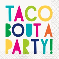Taco Bout a Party Fiesta Paper Cocktail Napkins, 5in, 32ct