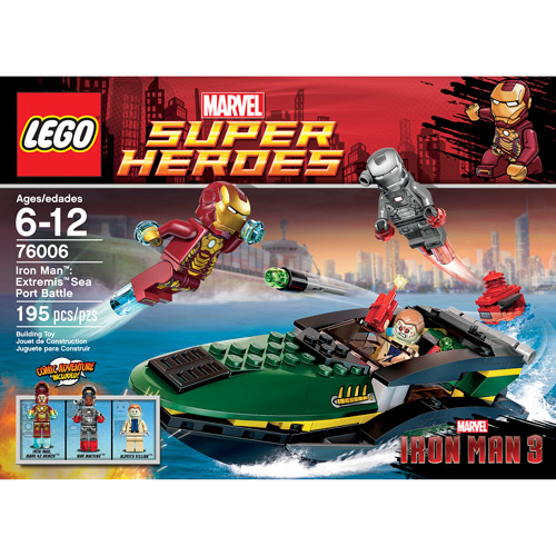 LEGO Super Heroes Iron Man Extremis Sea Port Battle Play Set ...