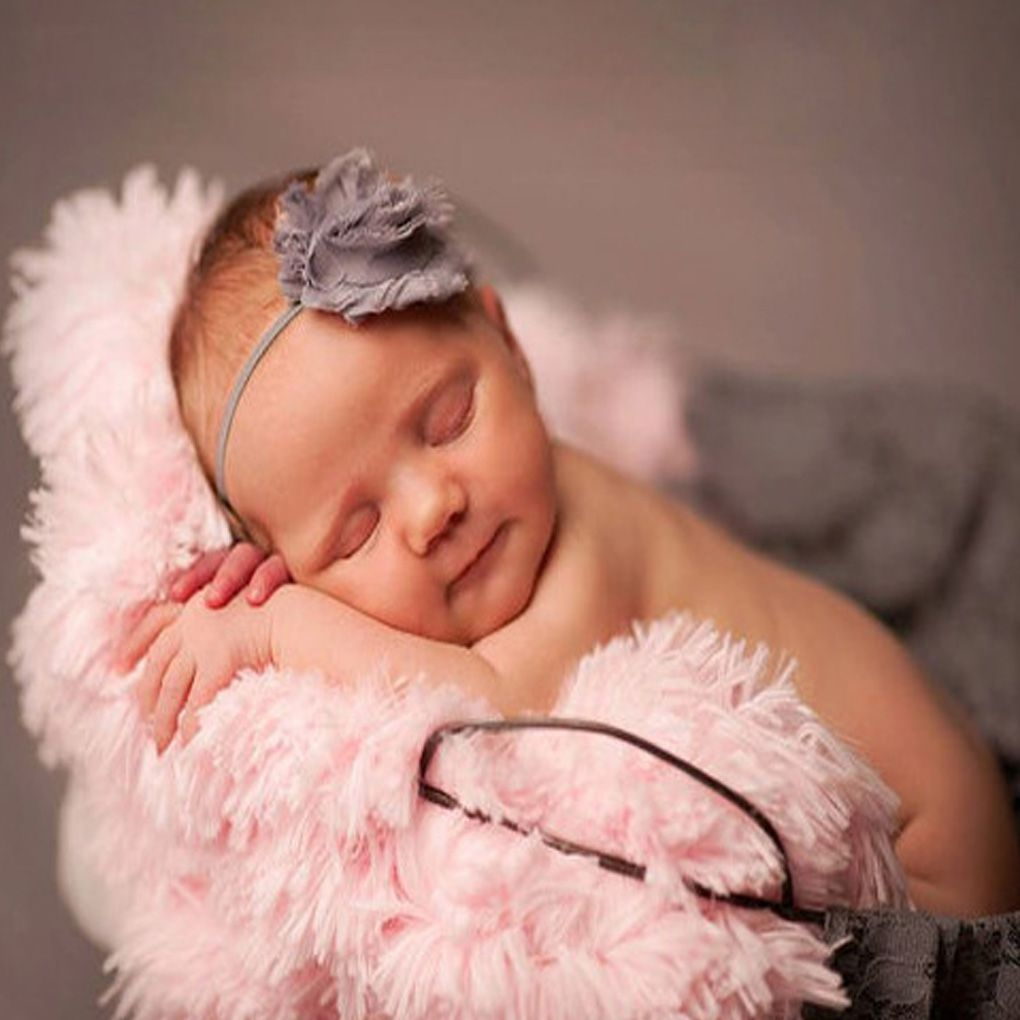 Newborn Baby Toddler Photography Photo Props Sleeping Swaddle Blanke Polyester