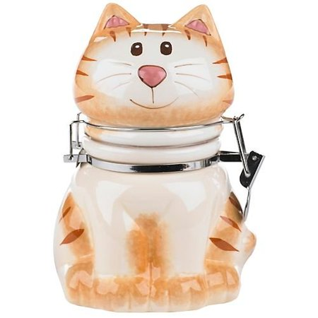 Boston Warehouse Ceramic Cat Hinged Storage Jar