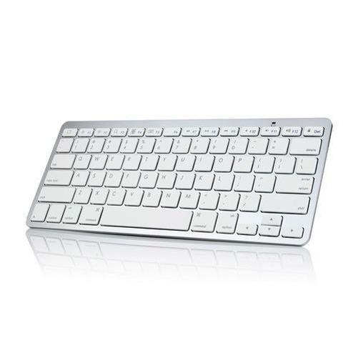 Slim Aluminum Wireless Keyboard Compatible With ZTE Grand X3 X Max 2 +, Axon 7, Avid 828 A3R