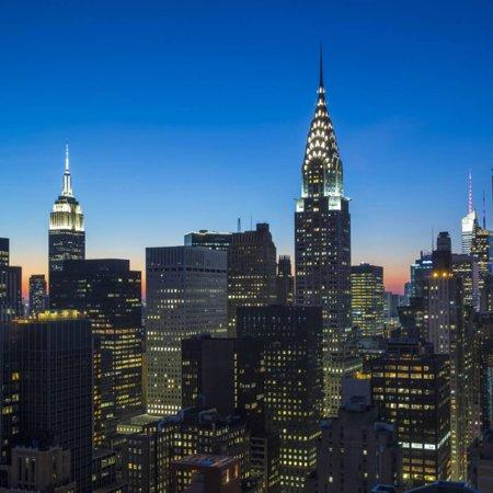 - Chrysler Building and Empire State Building, Midtown Manhattan, New York City, New York, USA Print Wall Art By Jon Arnold