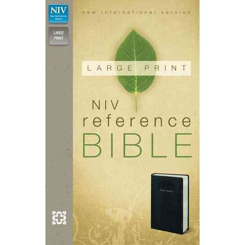 Holy Bible: New International Version, Black Leather-Look, Reference Bible